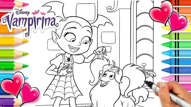 Vampirina Coloring Pages Vampirina And Wolfie Coloring Page Vampirina Coloring Book