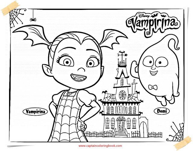 Vampirina Coloring Pages Vampirina Coloring Pages Printable Design Templates