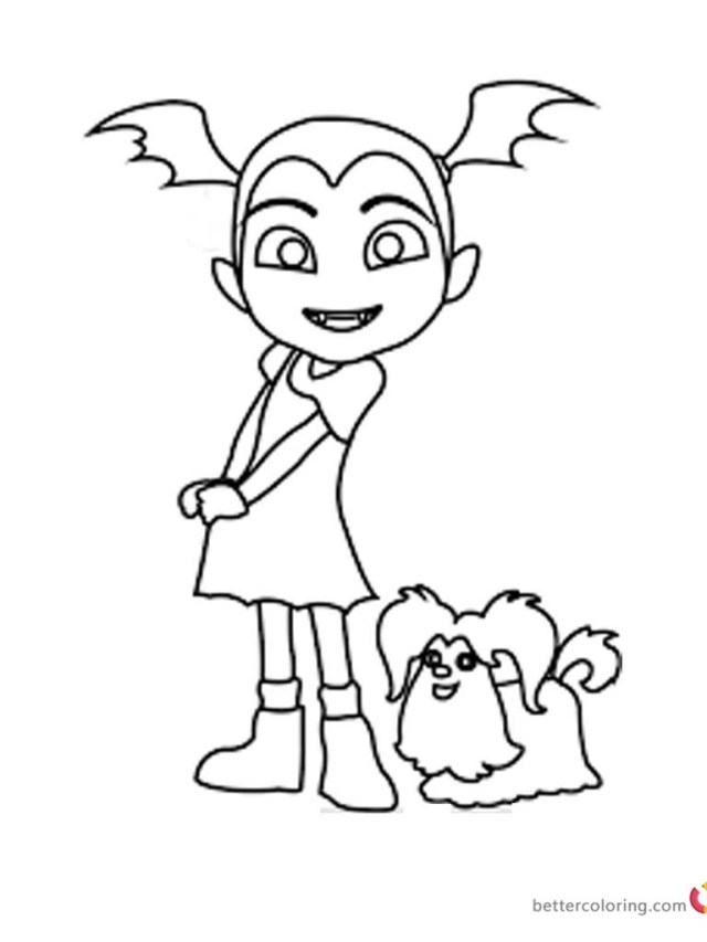 Vampirina Coloring Pages Vampirina Coloring Pages Vampirina And Wolfie Sketch Clrg