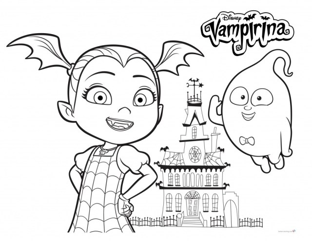 Vampirina Coloring Pages Vampirina Coloring Pages With Demi