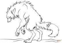 Werewolf Coloring Pages Scary Werewolf Coloring Page Free Printable Coloring Pages
