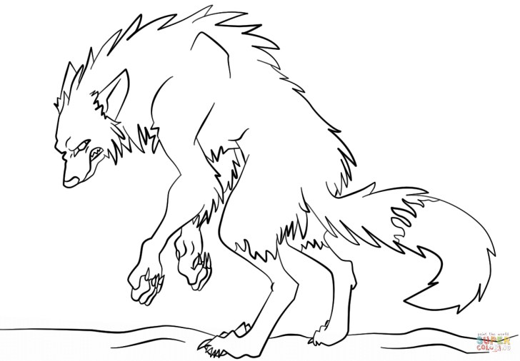 Marvelous Photo of Werewolf Coloring Pages