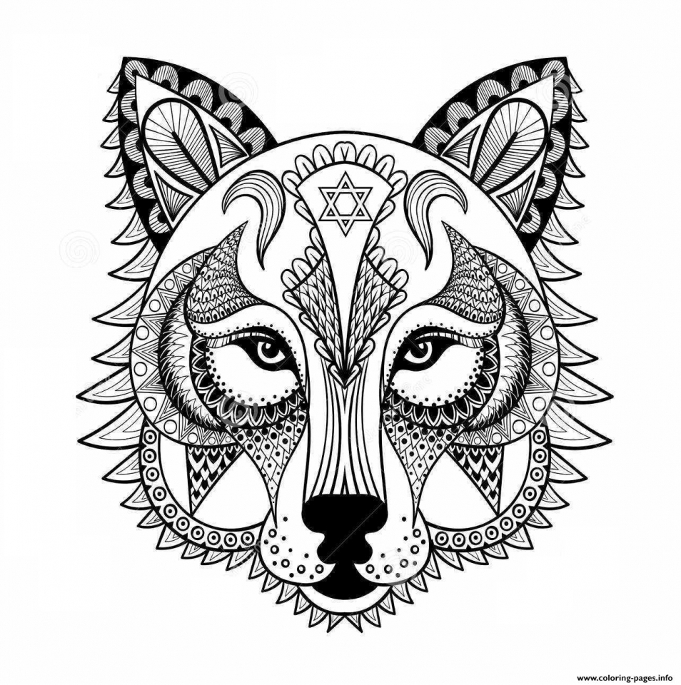 Free Wolf Coloring Pages For Adults Coloring And Drawing