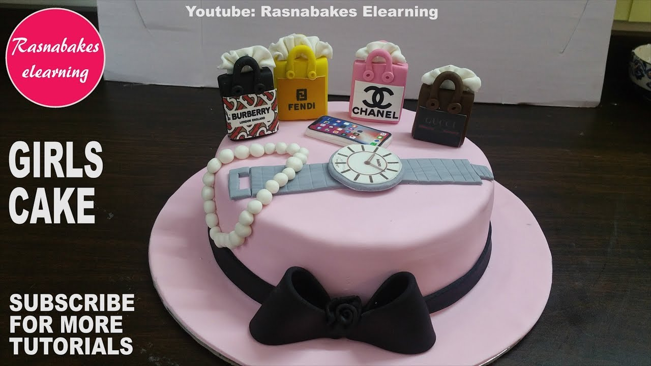 Womens Birthday Cake Ideas How To Make 3d Fondant Teenage Girls Or Women Designhappy