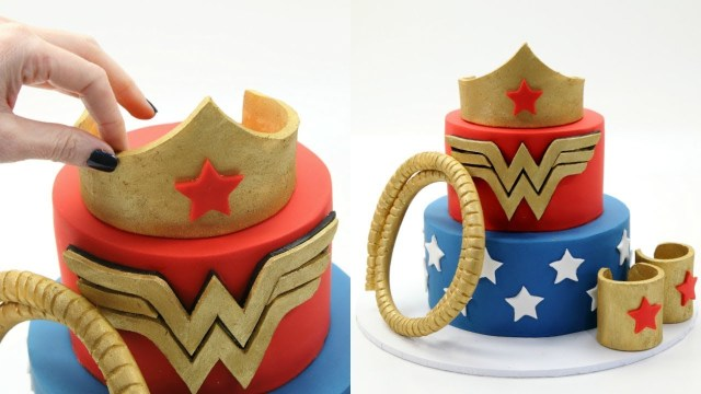 Wonder Woman Birthday Cake How To Make A Wonder Woman Cake Youtube