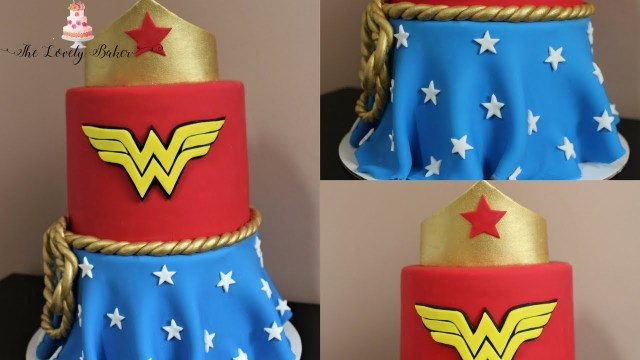 Wonder Woman Birthday Cake Wonder Woman Comic Book Style Cake Tutorial Youtube