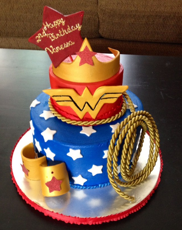 Wonder Woman Birthday Cake Wonder Woman Themed Happy Birthday Cake Sweet Blessings Custom