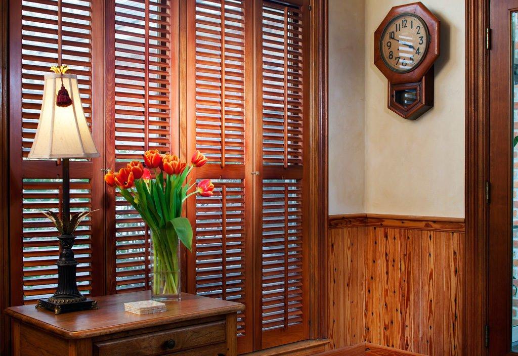 antique cypress plantation shutters
