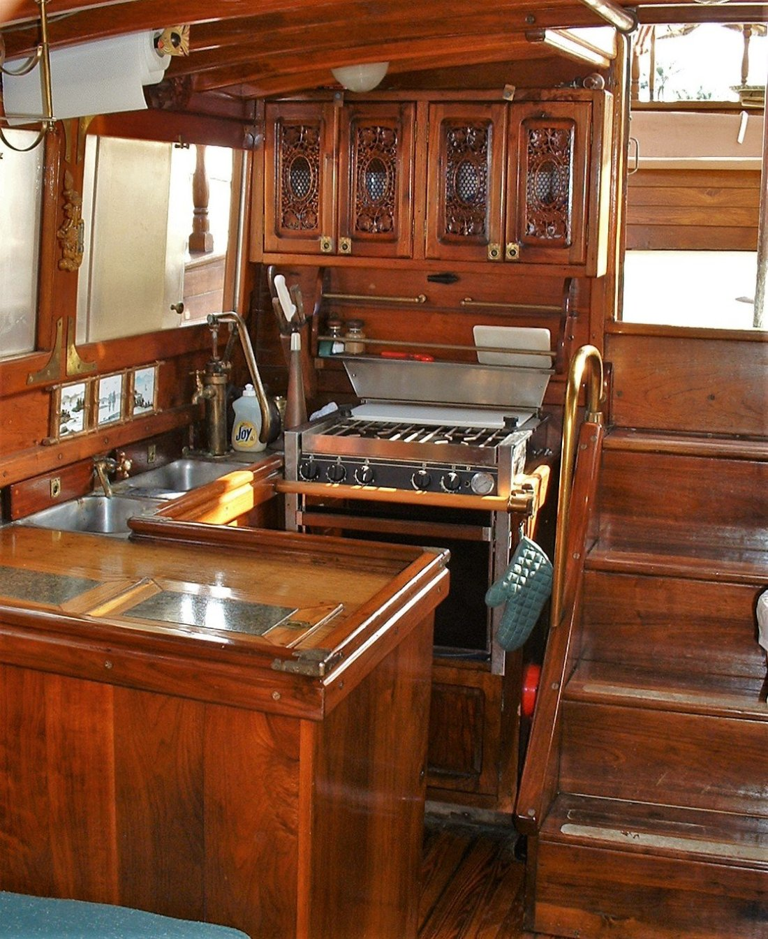 Boat Remodel Heart Pine Flooring