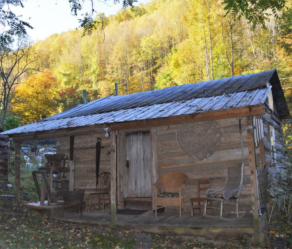 rustic wood log cabin in North Carolina