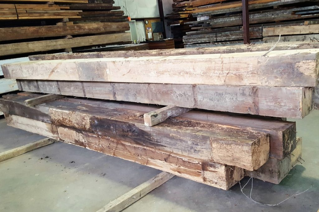 reclaimed pine beams