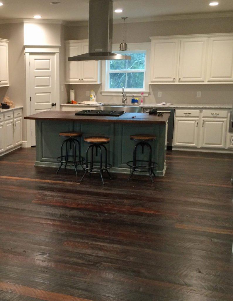 kitchen island dirty top pine