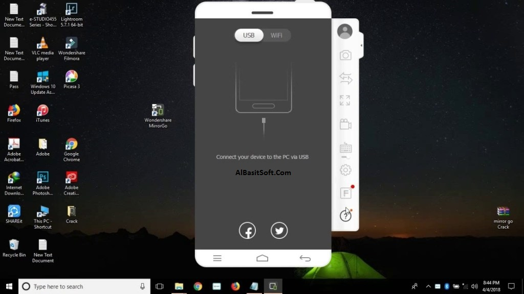 Wondershare MirrorGo 1.9.0 With Crack Free Download(AlBasitSoft.Com)