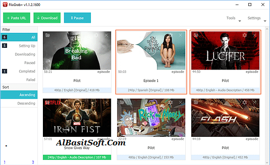 FlixGrab+ 1.5.11.352 Premium With Crack Free Download(AlBasitSoft.Com)