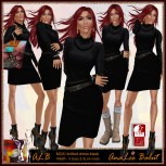 ALB MAXI knitted black dress incl. Slink mesh by AnaLee Balut