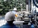 Metiendo la sonda geotérmica