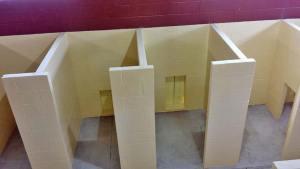 Vet Stalls coated with Polyurea