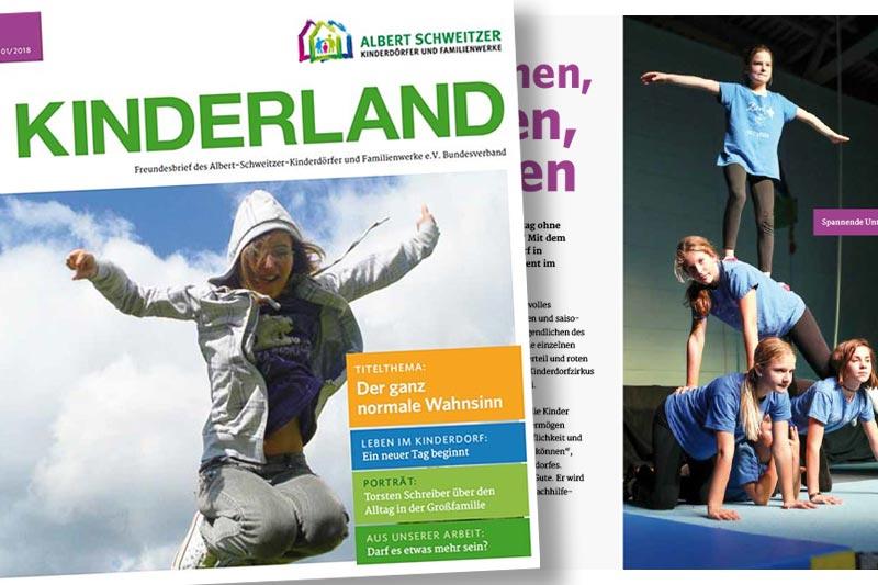 Kinderland - Freundesbrief der Albert-Schweitzer-Kinderdörfer und Familienwerke e.V.