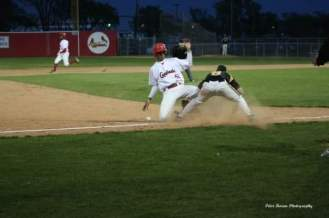 Simmons slides into third at Jubilee Park.