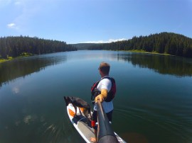 Spruce Coulee Reservoir in Cypress Hills