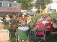 Evening around the campfire