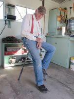 Gerry in his shop