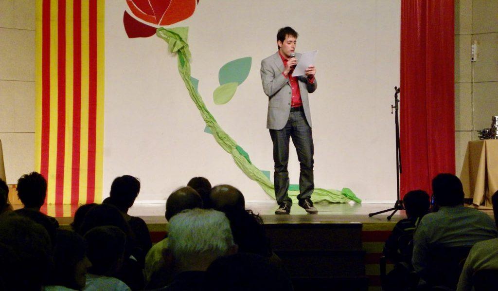 Presenting a literary awards ceremony