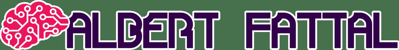 """""""AI-Brain"""" Logo + """"Albert Fattal""""-Text Logo"""