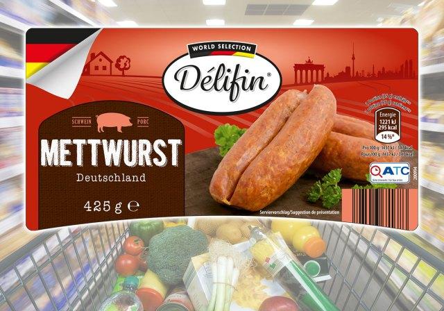 Etiketten für ein Aktionsprodukt für ALDI Belgien