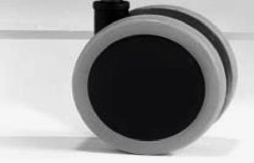 Riparazione sedia da ufficio: Set di 5 ruote grosse autofrenanti gommate per poltrona da ufficio compreso istruzioni di montaggio in videochiamata (30 min.)