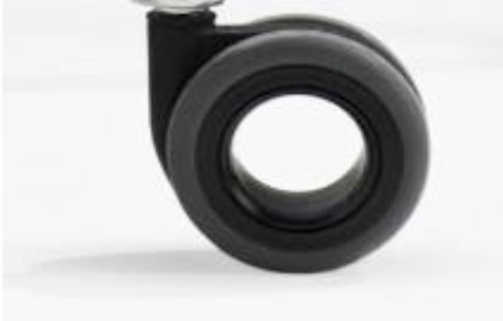 Riparazione sedia da ufficio: Set di 5 ruote maxi gommate, autofrenanti e forate per poltrona da ufficio compreso istruzioni di montaggio in videochiamata (30 min.)