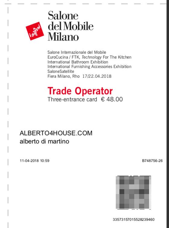 Salone del Mobile.Milano 17-22 Aprile 2018