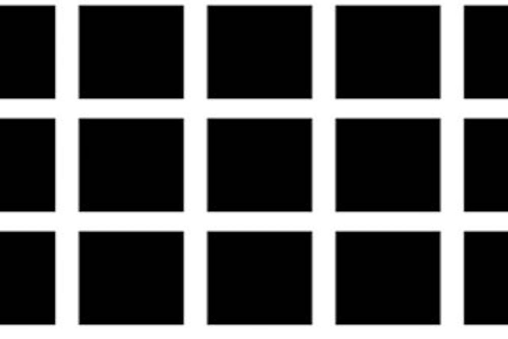 illusione ottica puntini grigi