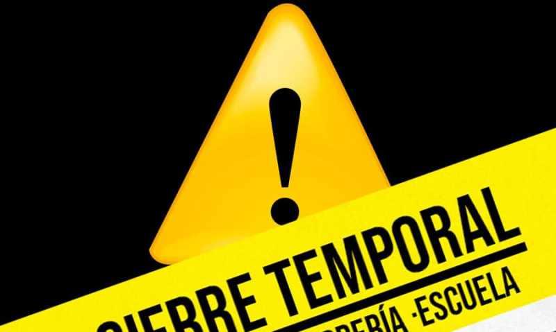 CIERRE TEMPORAL < CORONAVIRUS >