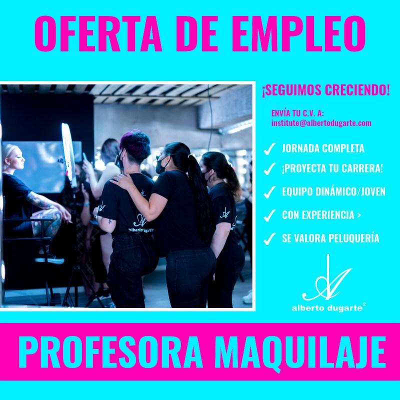 OFERTA EMPLEO: PROFESORA DE MAQUILLAJE