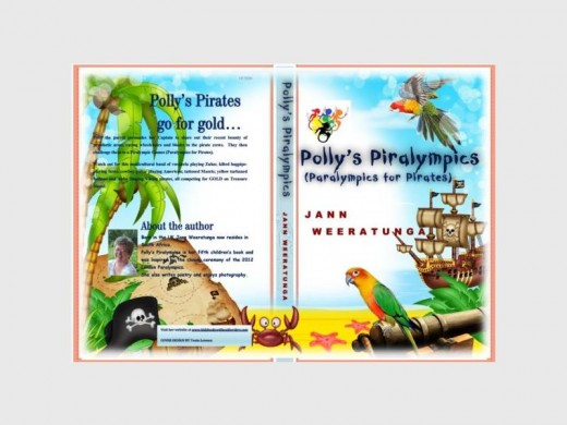 COLOURFUL COVER: The cover of  'Polly's Piralympics' which is being launched soon.