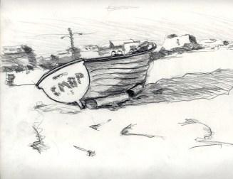 Sketchbook A 1 - Boat on beach