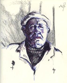 Sketchbook C 8 - Portrait of a worker-1984 100dpi rev