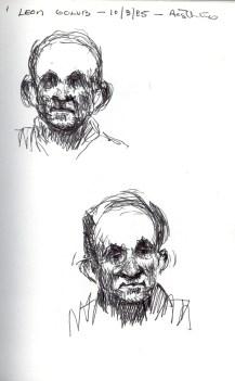 Sketchbook D 1 - Portrait of Leon Golub -1985 100dpi rev
