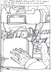 Sketchbook J 7 - Airplane to JFK Airport, NYC, NY