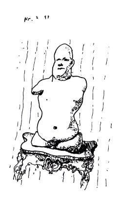 Sketchbook K 25 - Limbless figure on stand