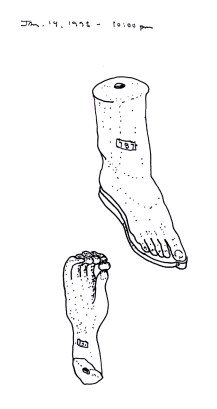 Sketchbook K 37 - Hand and foot