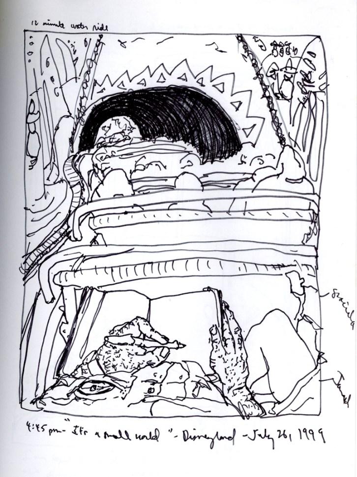 Sketchbook P 12 - Disneyland, Anaheim, CA
