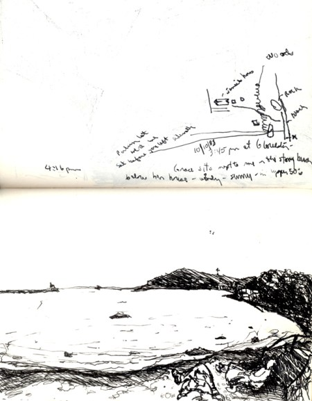 Sketchbooks F 13 - Inner Harbor Beach, Gloucester, MA