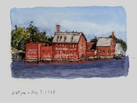Sketchbooks M 19 - Old Paint Factory, Gloucester, MA