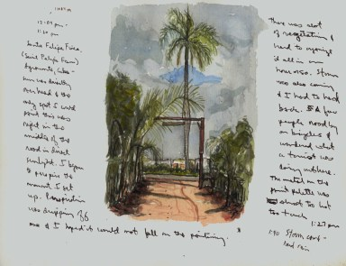 Sketchbooks Q 6 - Entrance to Pepe's Farm - Agramonte, Cuba