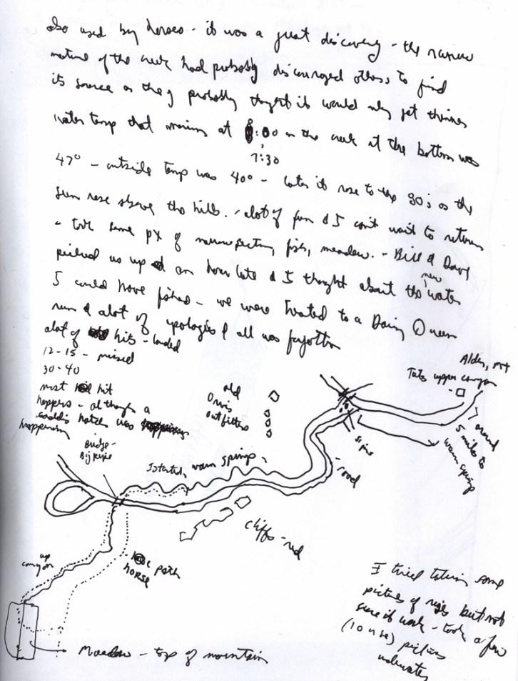 Sketchbooks R 27 - Map to Upper Meadow - Alden, MT