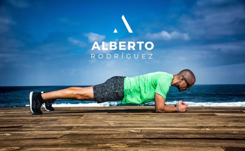 Alberto Rodríguez entrenamiento en la playa