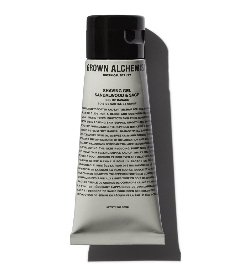 mens skincare routine shaving gel grown alchemist