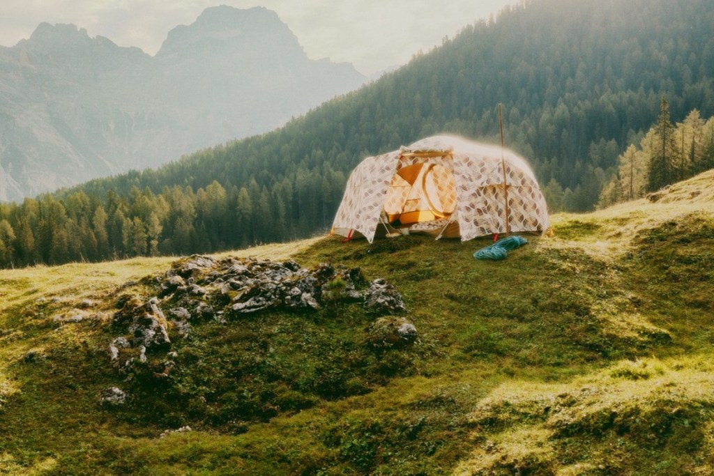 gucci x the north face collection collaboration tent
